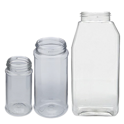 Empty Jars with Shaker Lids - 16 Oz. Clear Jar (PT)